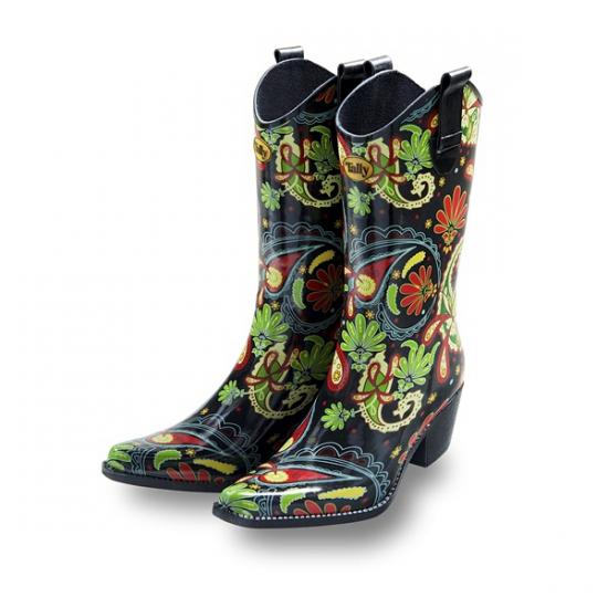 9d5a78c13835e0 Festival cowboy laarzen Paisley print in warenhuis Bellatio België.
